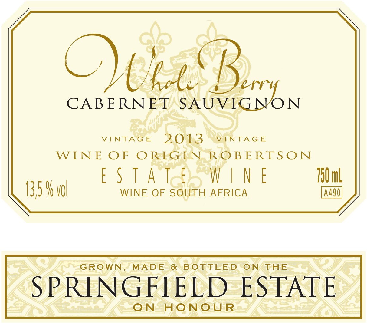 Whole Berry Cabernet Sauvignon